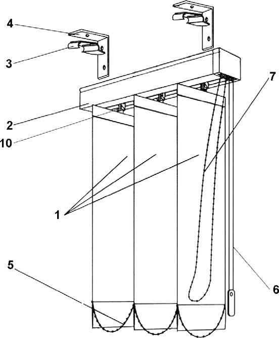 Инструкция по самостоятельному монтажу вертикальных жалюзи